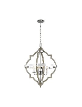 Bennington 4 Light Candle Style Geometric Chandelier by Birch Lane™ Heritage