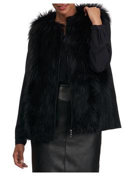Fox Fur Wool Back Vest by Gorski