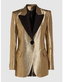 Single Breasted Metallic Lurex Blazer by ‎Petar Petrov‎
