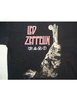 Led Zeppelin Rock Band Re Issue Concert Tour Fan Black Cotton T Shirt Size L by Unbranded