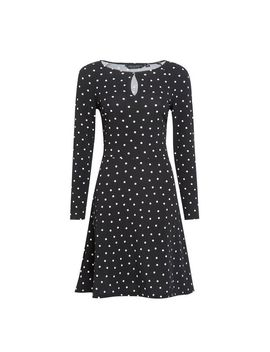 Black And White Keyhole Fit And Flare Dress by Dorothy Perkins