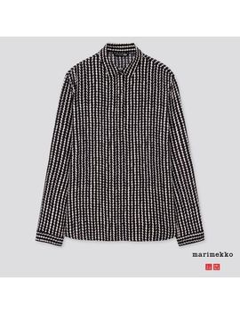 Women Marimekko Long Sleeve Blouse by Uniqlo
