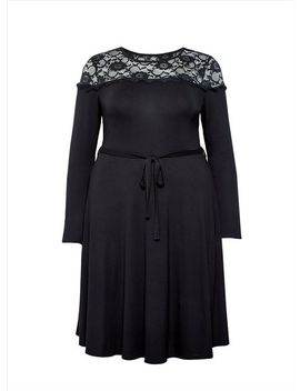 **Dp Curve Black Lace Dress by Dorothy Perkins