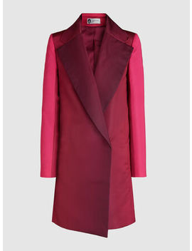 Degrade Notch Lapel Silk Coat by ‎Lanvin‎