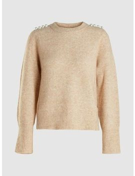 Lofty Pearl Embellished Wool Blend Pullover by ‎3.1 Phillip Lim‎