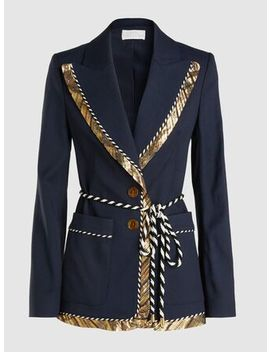Metallic Trim Robe Blazer by ‎Peter Pilotto‎