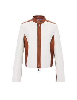 Keala Reversible Two Tone Leather Jacket by Ralph Lauren
