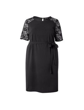 **Dp Curve Black Belted Shift Dress by Dorothy Perkins