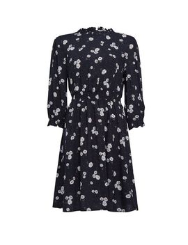 Black Daisy Print High Neck Dress by Dorothy Perkins