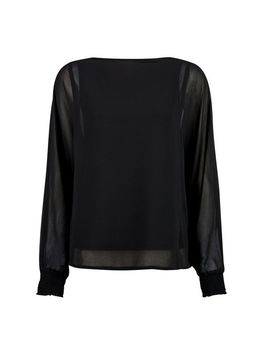 Black Chiffon Batwing Top by Dorothy Perkins
