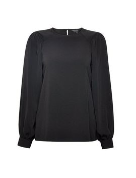 Black Balloon Sleeve Top by Dorothy Perkins