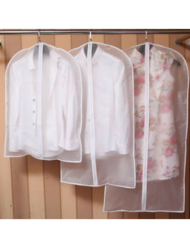 Plastic Clear Dust Proof Cloth Cover Suit/Dress Garment Bag Storage Protector by Unbranded