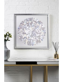 Small Diamond Framed Canvas by Next
