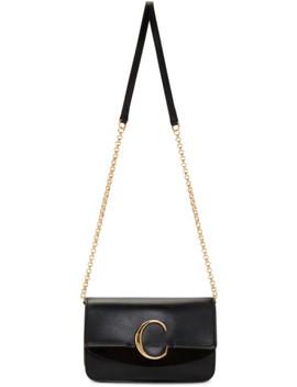 Black 'chloé C' Chain Clutch Bag by ChloÉ