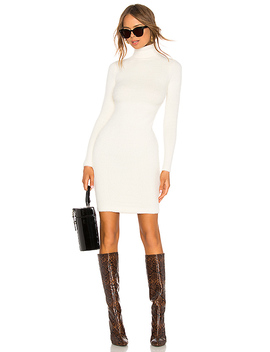 Surrey Sweater Dress In Ivory by Lpa