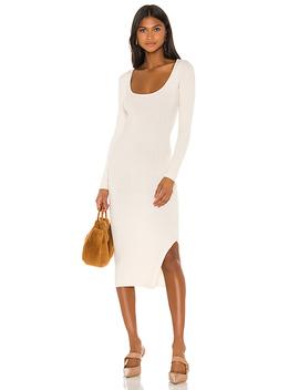 Nessa Sweater Dress In Cream by L'academie