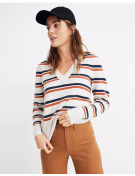 Striped Westgate V Neck Sweater In Coziest Yarn by Madewell