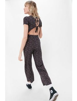 Uo Lindsay Printed Tie Back Jumpsuit by Urban Outfitters