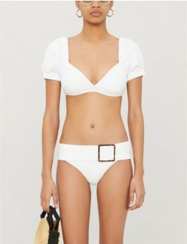 Onia X We Wore What Moe Puff Sleeve Bikini Top by Onia X Weworewhat