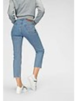 Levi's® Slim Fit Jeans »501 Crop« Mit Offenem Saum by Otto
