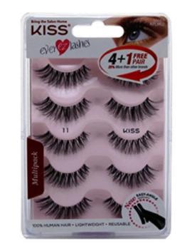(2 Pack) Kiss Ever Ez 11 Lashes 4 + 1 Pairs 10 Pairs Total Nib by Kiss