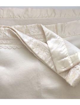 Vintage Beacon Heights Traditional King Virgin Acrylic Loom Woven Blanket Usa by Beacon