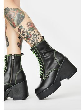 Lime Pyramid Ankle Boots by Roc Boots Australia