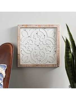 New!Embossed White Framed Plaque by Kirkland's