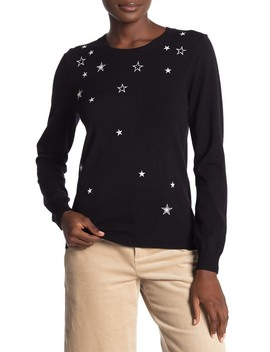 Lilita Star Embroidered Sweater by Rebecca Minkoff