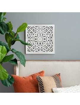 White Square Ornate Wall Plaque by Kirkland's