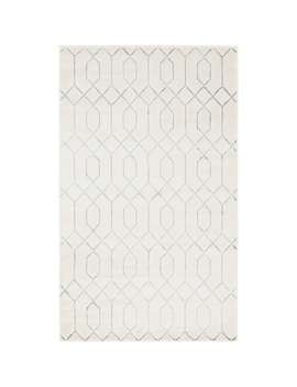 Marilyn Monroe Trellis Glam Area Rug   5' X 8'   White/Silver by Unique Loom
