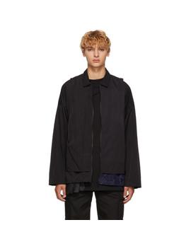 Black Cave Shirt Jacket by Cottweiler