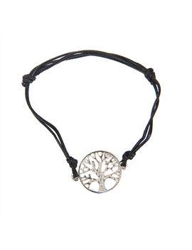 Celtic Charm Silver Tree Of Life Black Cord Charm Bracelet Gift by Ebay Seller