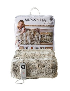 Dreamland Relaxwell Deluxe Faux Fur Throw by Next