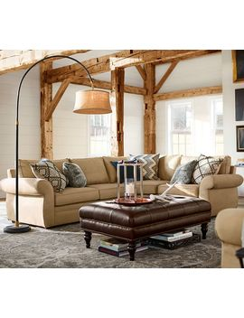 Pearce Roll Arm Upholstered 3 Piece Sectional With Wedge by Pottery Barn