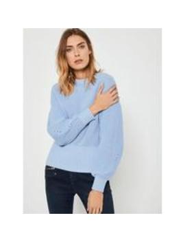 Mint Velvet Chunky Rib Stitch Easy Knit Jumper   Blue by Mint Velvet