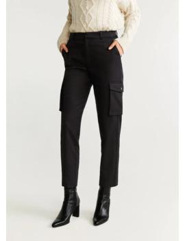 Bavlněné Kalhoty S Kapsami by Mango