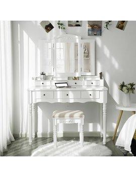 White Soares Vanity Set With Mirror by House Of Hampton