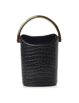 Stella Mccartney Embossed Crocodile Effect Bucket Bag Black by Stella Mc Cartney