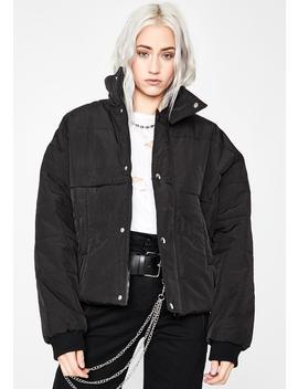 Onyx Glacier Gangsta Puffer Jacket by Dolls Kill