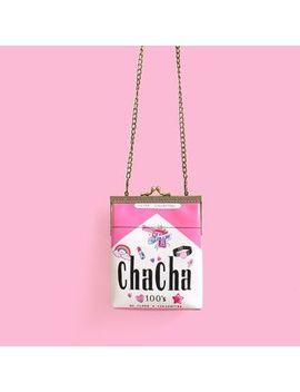 Shime   Cigarette Box Print Crossbody Bag by Shime