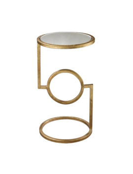 Ls Dimond Home Mirrored Top Hurricane Side Table by Dimond Home