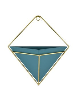 Mainstays Blue Metal Wall Planter by Mainstays