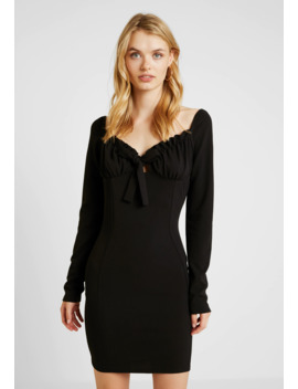 Milkmaid Tie Front Mini Dress   Cocktailkjole by Missguided Tall