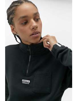 Adidas Originals Half Zip Cropped Sweatshirt by Adidas Originals