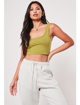 Deep Red Scoop Neck Bralet by Missguided