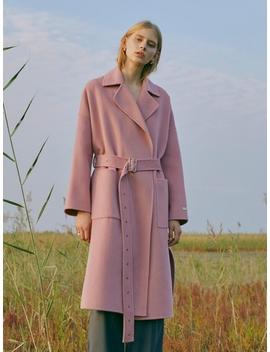 Premium Handmade Wool Vivid Coat Pink by Till I Die