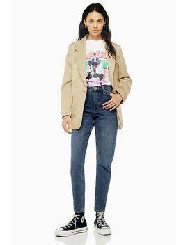 Tiefblaue Mom Jeans Petite Größe by Topshop