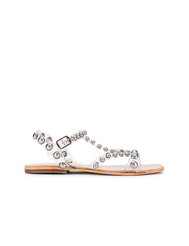 Amaryl Sandal In Clear & Silver by Jeffrey Campbell