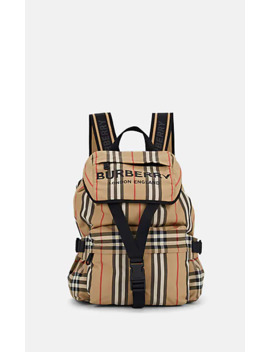 Wilfin Small Leather Trimmed Backpack by Burberry